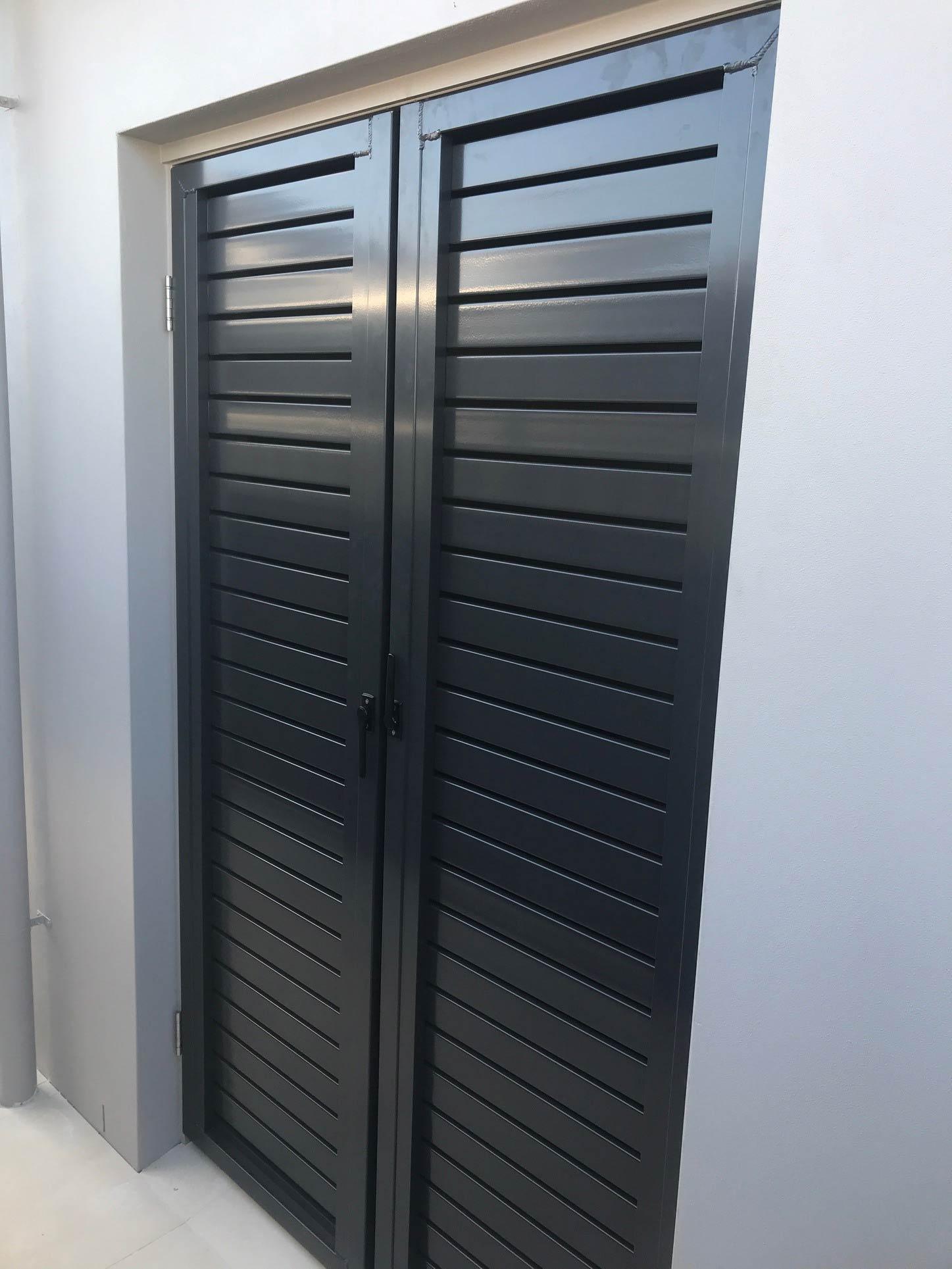 Black Small Privacy Gate — Power Coating and Sandblasting Grafton, NSW